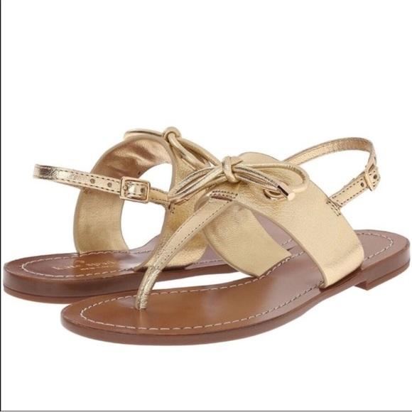 9afc9bd638cf kate spade Shoes - Kate Spade Carolina Gold Thong Sandal